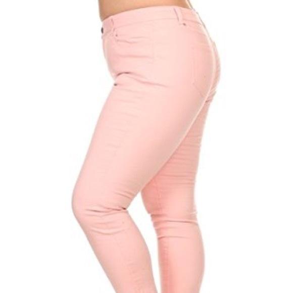 8f731ebb856 Wax Pink Plus Size Skinny Jeans